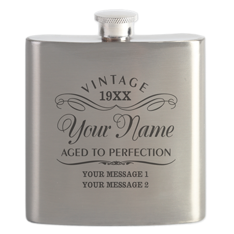 Personalize Funny Birthday Flask