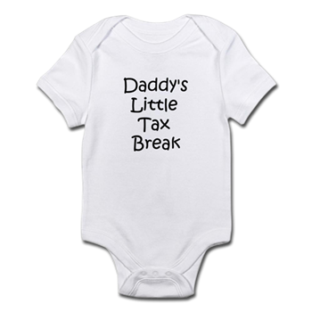 a19c67903 Daddys little tax break - Infant Bodysuit < Funny Sayings On Funny Baby  Onesies < Funny Sayings On Baby Onesies < Funny Baby Onesies Bibs T-shirts  Creepers ...