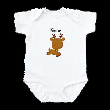 Personalized Reindeer Baby Bodysuit