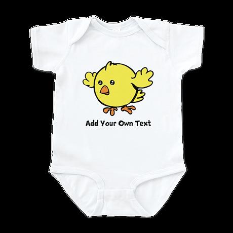 Cute Chick. Black Text Infant Bodysuit