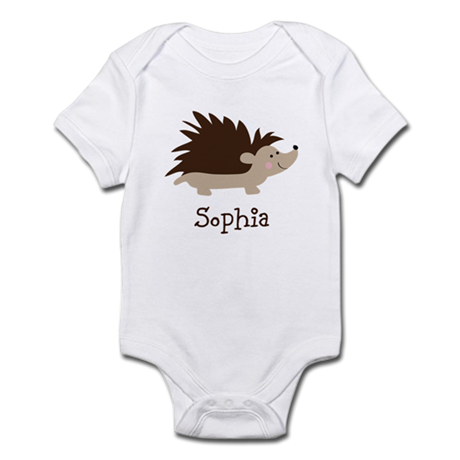 Custom Name Hedgehog Infant Bodysuit