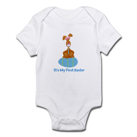 Customizable 1st Easter (blue Infant Bodysuit