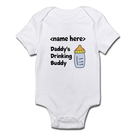 Drinking Buddy (Editable) Infant Bodysuit