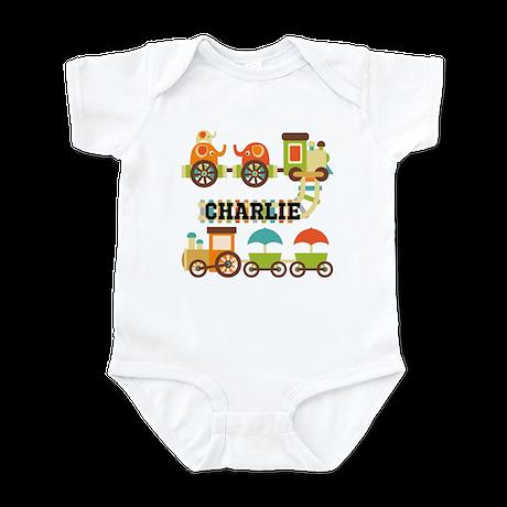 Personalized Train Infant Bodysuit