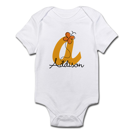 Custom A Monogram Infant Bodysuit