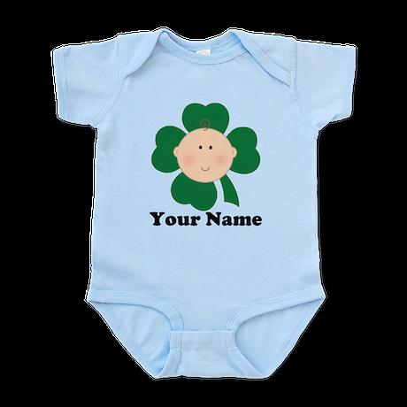 Personalized Irish Baby Shamrock Infant Bodysuit