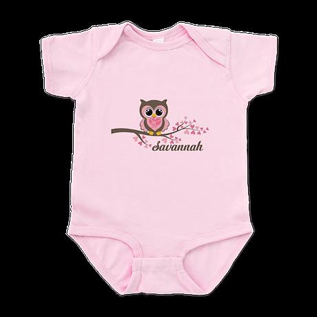 Custom Valentines Day owl Infant Bodysuit