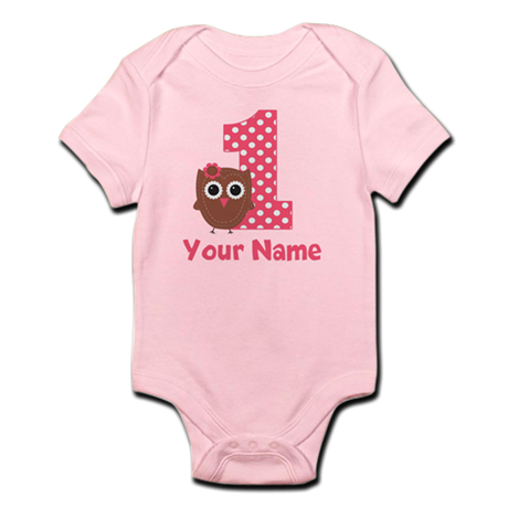 1st Birthday Owl Girl Body Suit