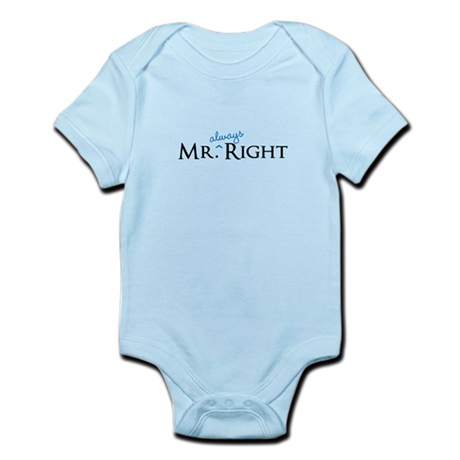 Mr always Right part of his and hers set Body Suit