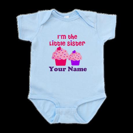 Big Sister Cupcake Custom Infant Bodysuit