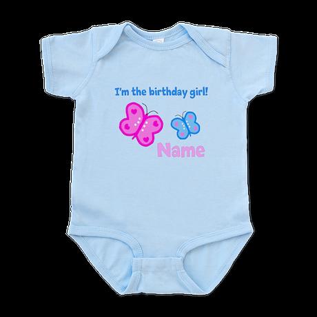 Birthday Girl Butterfly Infant Bodysuit