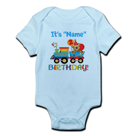 2nd Birthday Bear Train Infant Bodysuit