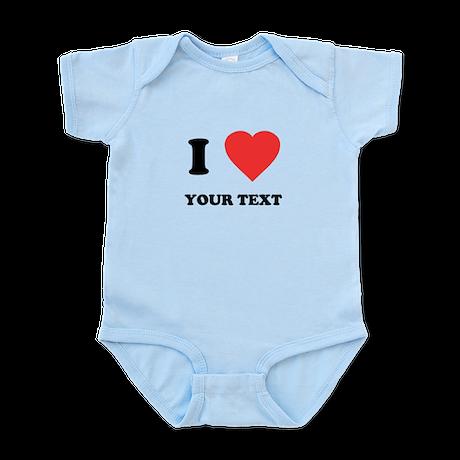 Custom I Heart Infant Bodysuit