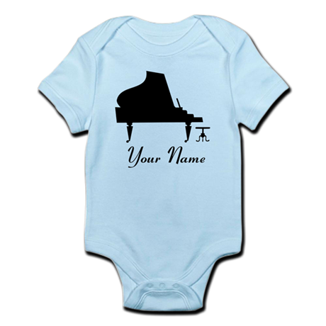 Personalized Piano Music Infant Bodysuit