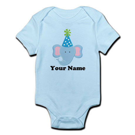 Personalized Birthday Elephant Infant Bodysuit