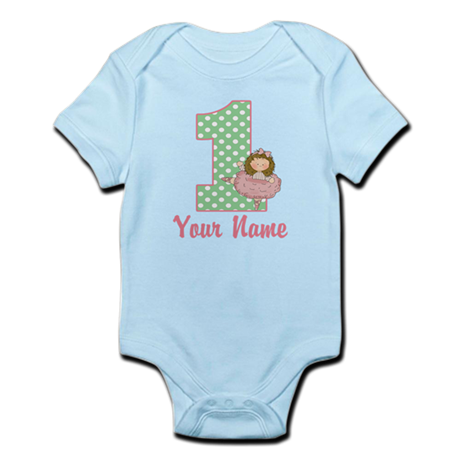 1st Birthday Ballet Girl Infant Bodysuit