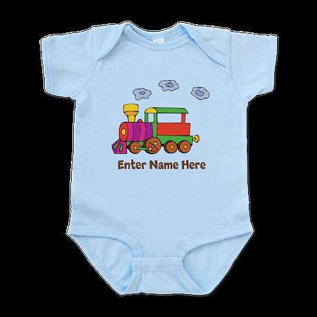 Personalized Train Engine Infant Bodysuit