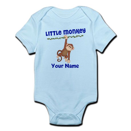 Monkey Boy Kids Personalized Infant Bodysuit