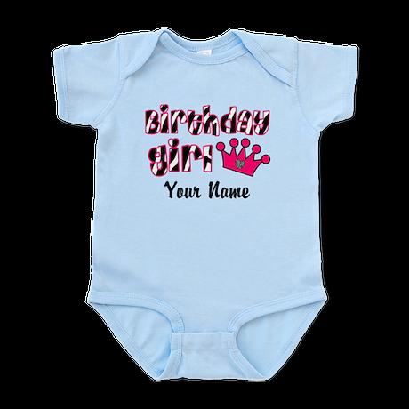 Birthday Girl Zebra Infant Bodysuit