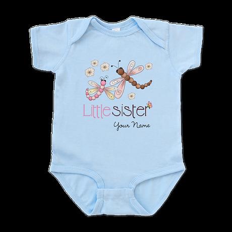 Little Sister Dragonfly Personalized Infant Bodysu
