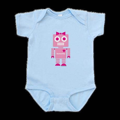 Beep Pink Robot Infant Bodysuit