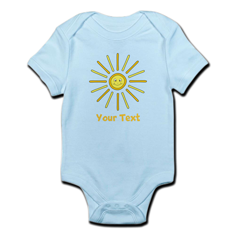 Happy Summer Sun and Text. Infant Bodysuit