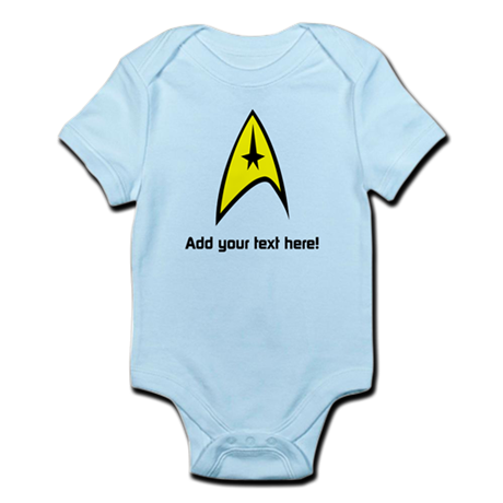 Custom Star Trek Insignia Infant Bodysuit
