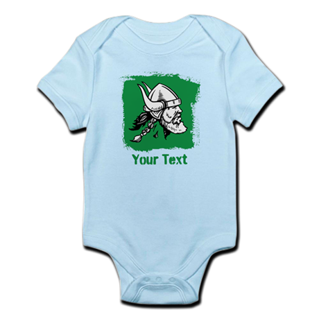 Viking with Custom Text. Body Suit