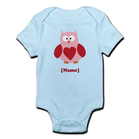 Personalized Plain Valentines Owl Body Suit