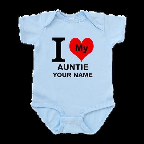 I Heart My Auntie (Custom) Body Suit