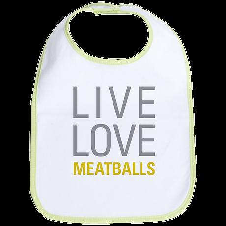 Live Love Meatballs Bib