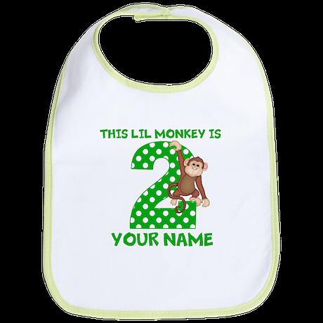 2nd Birthday Boy Monkey Bib