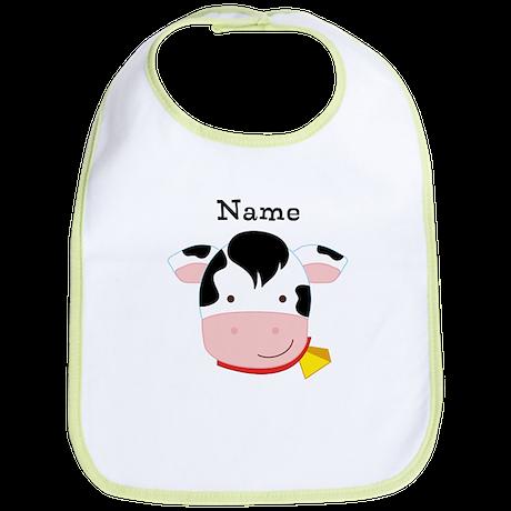 Personalized Cow Bib
