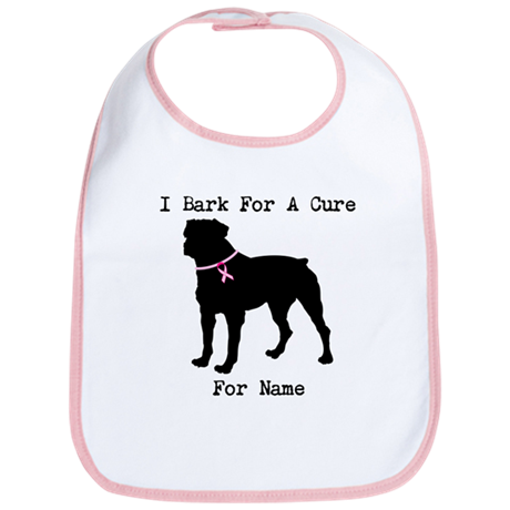 Rottweiler Personalizable I Bark For A Cure Bib