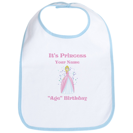 Princess Personalized Birthda Bib