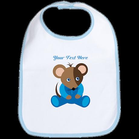 Baby Boy Mouse Blue Sleeper Bib