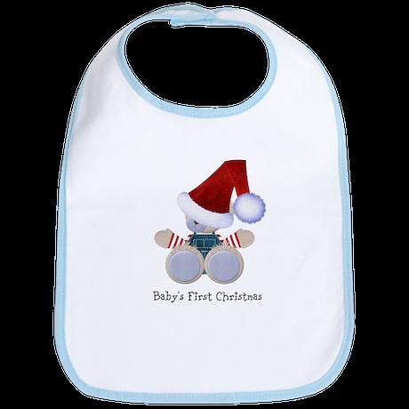 Customizable Teddy Santa Bib