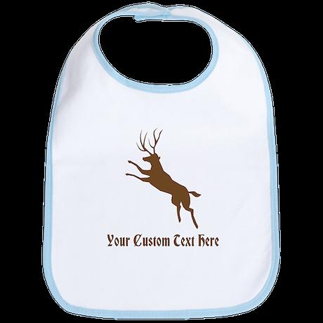 Brown Deer Stag. Custom Text. Bib