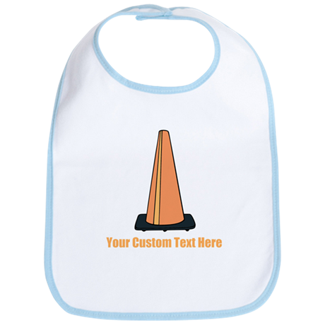 Traffic Cone and Your Text. Bib
