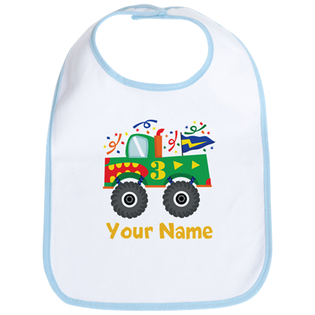 Personalized 3rd Birthday Monster Truck Bib