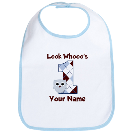 Look Whoo's 1 Boys Bib
