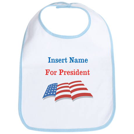 Personalized For President Bib