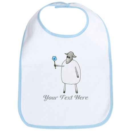 Sheep and Custom Text. Bib