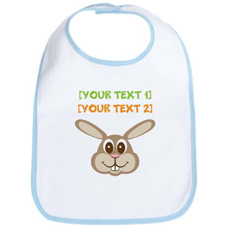 PERSONALIZE Easter Bunny Bib