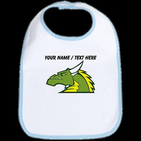 Custom Green Dragon Mascot Bib
