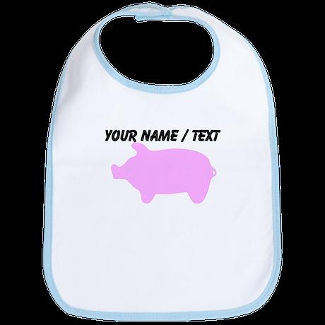 Custom Pink Piggy Silhouette Bib