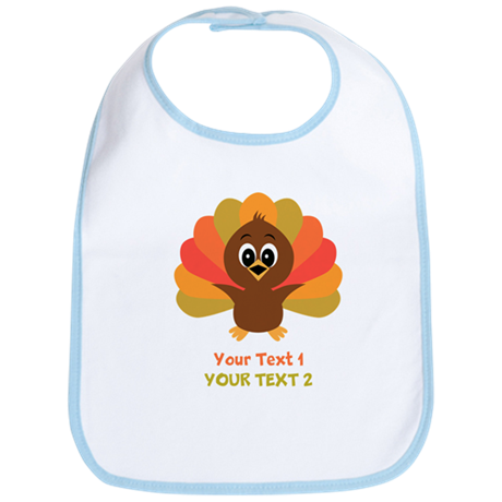 Personalize Little Turkey Bib