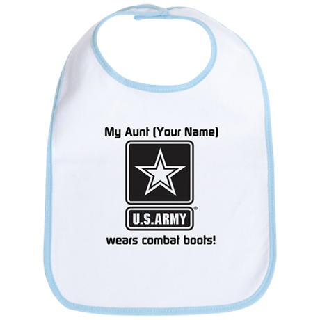 My Aunt Wears Combat Boots Army (Custom) Bib