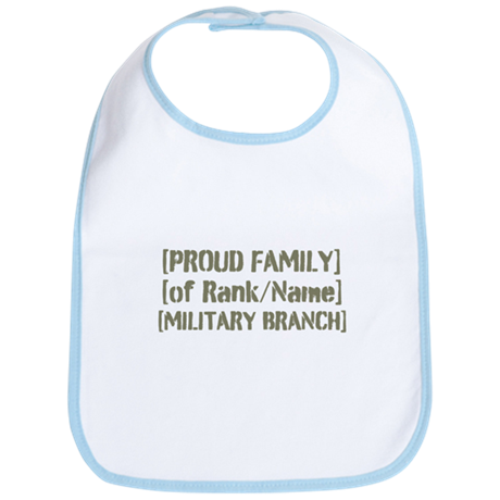 PERSONALIZED Military Family [vintage] Bib