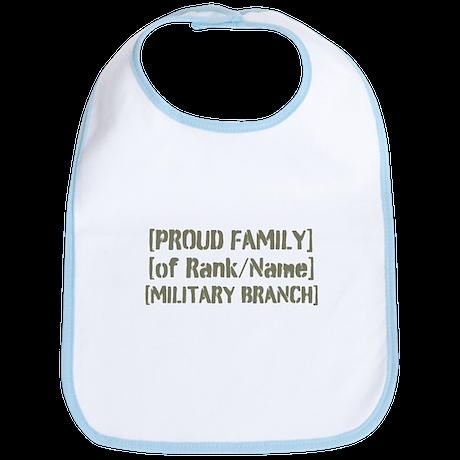 PERSONALIZED Military Family [vintage] Bib